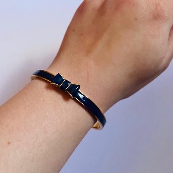 Kate Spade Navy Bow Bangle Bracelet